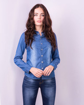 Missy Empire Yazzmin Collar Point Denim Shirt