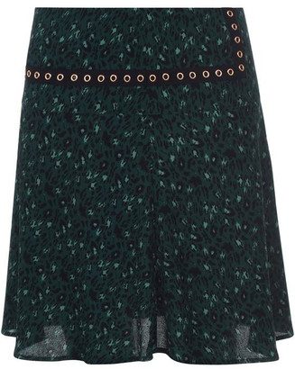 Sofie Schnoor Leopard Print Midi Skirt