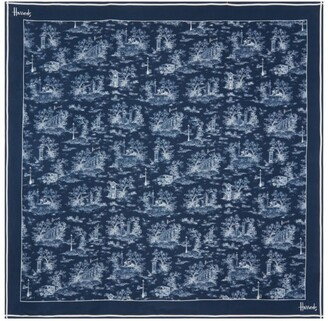 Harrods Silk London Print Scarf