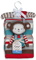 Bed Bath & Beyond Lolli Living(TM) by Living Textiles Baby Cotton Knitted Blanket & Rattle Toy - Coco Monkey