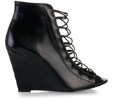 GIVENCHY - Lace front wedge boots