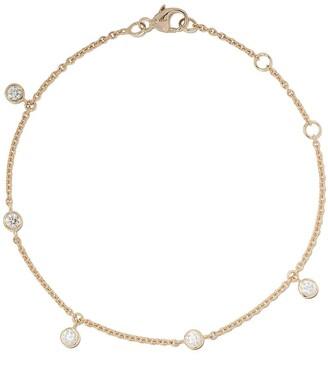 De Beers 18kt yellow gold My First five diamond bracelet