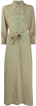 Aspesi Geometric Pattern Silk Dress
