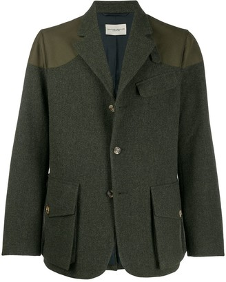 Holland & Holland four-button jacket with patches