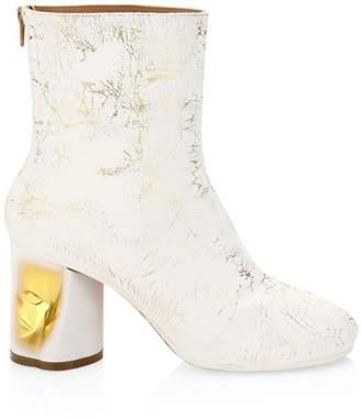 Maison Margiela Painted Crushed Metallic Ankle Boots