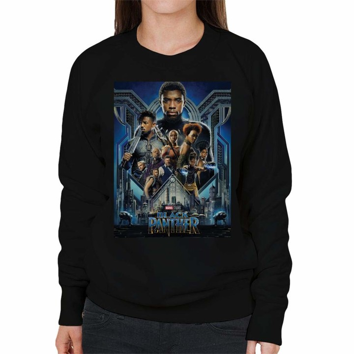 Thumbnail for your product : Marvel Black Panther Movie Poster Women's Sweatshirt