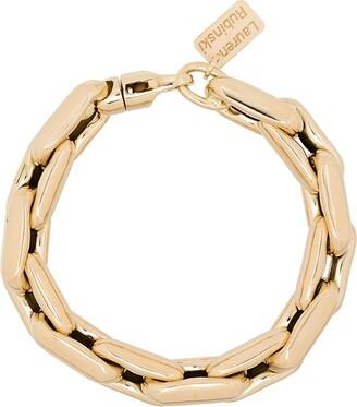LAUREN RUBINSKI 14kt Yellow Gold Chain-Link Bracelet