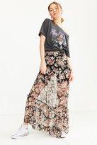 Ecote Mesh Ruffle Maxi Skirt