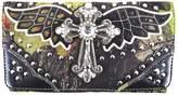 Western Origin Western Camouflage Crossbody Women's Long Leather Card Holder Purse Elegant Clutch Wallet