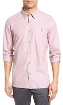 Ted Baker Men's Newway Roll Sleeve Sport Shirt