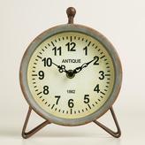 Galvanized Metal Hairpin Clock
