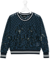 Little Remix lace sweatshirt - kids - Cotton/Nylon/Polyester - 16 yrs