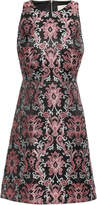 Kate Spade Finer Things Flared Floral-jacquard Dress