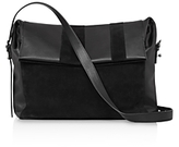 AllSaints Casey Suede and Leather Shoulder Bag