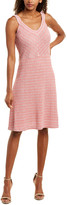 St. John Wool-Blend A-Line Dress