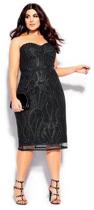 City Chic Antonia Dress - black