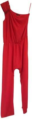 Bel Air Red Silk Jumpsuits