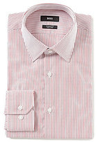 HUGO BOSS BOSS HUGO Enzo Fitted Classic-Fit Point Collar Striped Dress Shirt