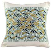 Maya Backstrap Woven Cotton Cushion Cover in Grey and White, 'Ceiba Tree'