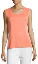 Misook Basic Scoop-Neck Tank, Tart, Petite