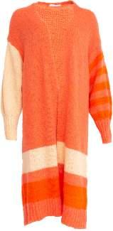 Yinca YINCA - Long Orange Striped Coordinate Cardigan YIN CA 13506202 - one size