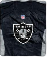 Northwest Company Oakland Raiders Jersey Plush Raschel Throw