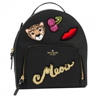 Kate Spade Black Leather Backpacks
