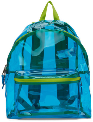 Eastpak Blue and Green Film Padded Pakr Backpack