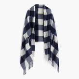 J.Crew Cape-scarf in oversized plaid