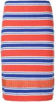 Marco De Vincenzo striped rib knit skirt