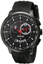 Versus By Versace Men's SGV110014 Manhattan Black Stainless Steel Watch with Rubber Band