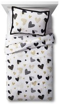 Circo Hello Hearts Comforter Set - Black&White - Pillowfort
