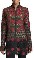 Naeem Khan Floral-Embroidered Jacket