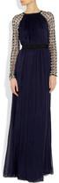 Temperley London Embellished silk-blend gown