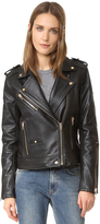 Blank Leather Moto Jacket