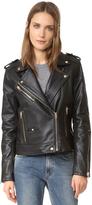 Blank Leather Moto Jacket