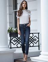 Lipsy Short Rinse Lift And Shape Skinny Jeans