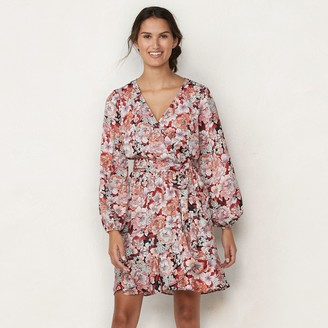 Lauren Conrad Women's Balloon-Sleeve Wrap-Front Dress