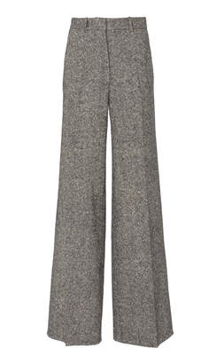 Victoria Beckham Wool-Tweed Wide-Leg Pants