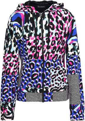 Versace Printed French Stretch-cotton Terry Hooded Jacket