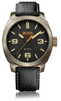 Hugo Boss 1513409 Grained Leather Strap Quartz Watch One Size Assorted-Pre-Pack