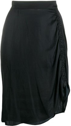 Zadig & Voltaire Jiji ruched satin skirt