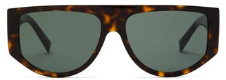 Givenchy Flat-top Oval Acetate Sunglasses - Womens - Tortoiseshell