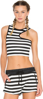 So Low SOLOW Side Cut Out Crop Tank