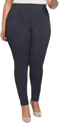 Dex Plus Pintuck Pull-On Leggings