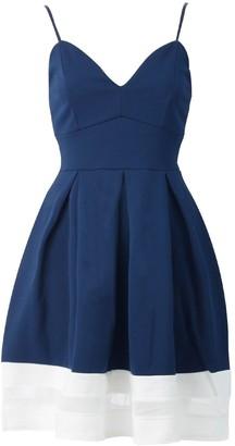 Momo&Ayat Fashions Ladies Cami Skater Dress With Mesh Panel Floral Plain UK Size 8-16 (UK 12 (EUR 40)