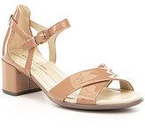 Ecco Shape 35 Block Patent Leather Sandals