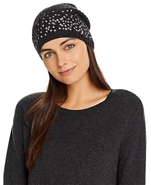 Carolyn Rowan Accessories Scattered Stars Embroidered Beanie