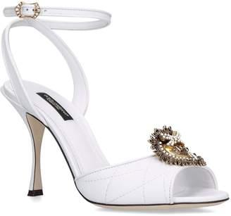 Dolce & Gabbana Leather Devotion Heart Sandals 90