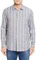 Tommy Bahama Men's Big & Tall Ricky Jacquardo Stripe Linen & Cotton Sport Shirt